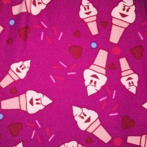 c4d1a4ee94571c LuLaRoe Pants | Ice Cream Cone Leggings Os | Poshmark